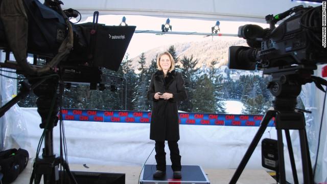 Go behind the scenes involving CNN Davos coverage.
