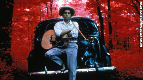UNITED STATES - JANUARY 01: WOODSTOCK Photo associated with Bob DYLAN, posed outside Byrdcliff home (Photo by Elliott Landy/Redferns)