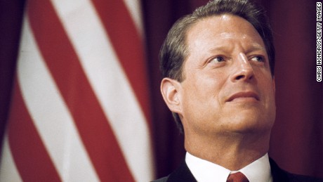 Democratic presidential candidate Vice President Al Gore waits to talk at the The big Apple Historical Society June 13, 2000 throughout Ny City.