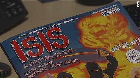 Publisher Wayne Bell created any graphic adult coloring guide that he says is supposed to educate Americans regarding ISIS.