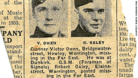Missing within action: a newspaper clipping studies Oxley's capture.